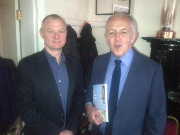With the BBC's Middle East Editor, Jeremy Bowen, at the launch of 'No Road Home', 2013