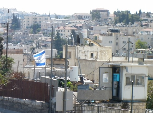 A house taken over by Jewish settlers, East Jerusalem, 2011 ©James Rodgers