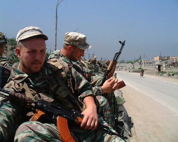 Troops in Russia's 'anti-terrorist' campaign, Chechnya, Summer 2000