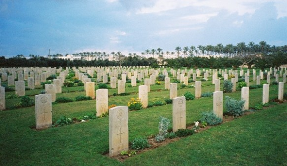 You have to go back a long way to understand today: the Commonwealth War Graves Cemetery, Deir-el-Balah, Gaza, 2004 ©James Rodgers
