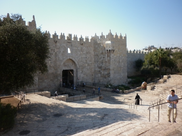 The Damascus Gate into the Old City of Jerusalem -- how much history do you need to explain what's happening there today?