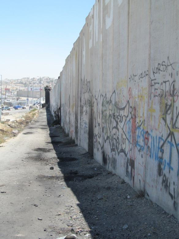 A view of the barrier between Israel and the West Bank, near Qalandiya crossing point, June 2014 Picture: James Rodgers