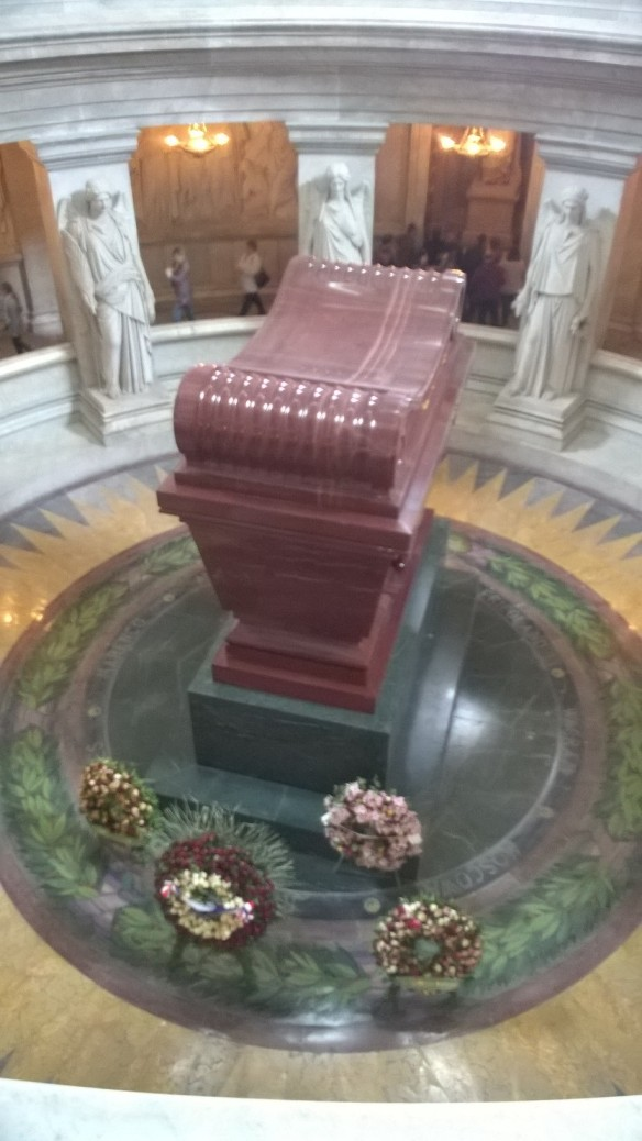 Napoleon's tomb at Les Invalides in Paris.